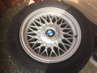 Bmw 16 alloy wheels with tyres