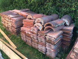 Clay Roof Tiles, Somerset 13, approx 1,500 and 25 ridge tiles
