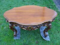 1960s REPRODUCTION BAROQUE ITALIAN COFFEE TABLE