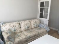 Shabby chic sofa bed for sale.