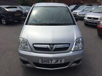 Vauxhall Meriva 1.4 i 16v Life 5dr2007 (57 reg), MPV(30days warranty)£1300