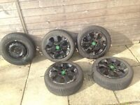 4 Vauxhall Corsa (and other Vauxhall make) Alloy Wheels for sale + one spare.