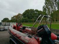 Tornado 5.5Mtr RIB with Stainless Steel A-frame and Dive rack in good condition no trailer