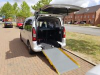 Citroien Berlingo Wheelchair accessible with remote control winch. Economic and eco friendly £30tax.