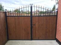 Driveway Gates 3m wide 7ft high Galvanised Wood Infils RRP £1600