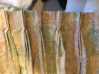 Curtains. Pair of large patio door curtains.