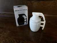Novelty Hand Grenade Mug / Cup With Lid Brand New Boxed