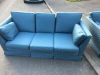 3 seater settee + 1 chair