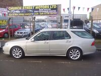 Saab 9-5 Vector Sport,2290 cc Estate,2 keys,half leather interior,runs and drives well