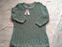 Markespencer ladies crochet jumper round neck 3/4 sleeves brand new £18 Rrp £35