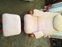 For Sale: Resteezee style recliner armchair and foot rest. Very good condition.
