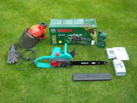*PERFECT* Bosch AKE 40-S 1800 W Electric Chainsaw 400mm / 16 inches cutting bar -Option Safety Gear