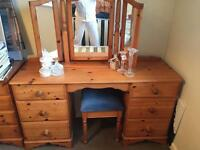Hygena pine double sided dressing table