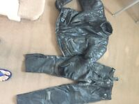 Motorcycle leather jacket and trouser for sale