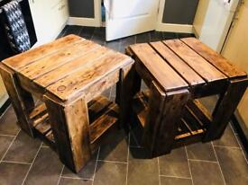 Hand made Rustic side tables/coffee tables
