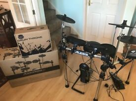 Alesis Forge Electronic Drum Kit with Drum Throne - LIKE NEW