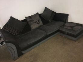3 Seater sofa and footstall for sale