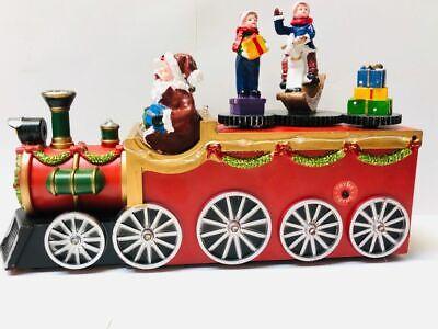 Christmas Village Musical Led Lights Santa Holiday Train
