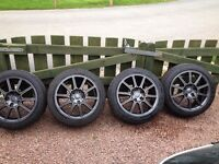 Genuine Subaru STI refurbished Alloy wheels and NEW tyres