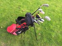 Junior Golf Clubs and Nike Bag