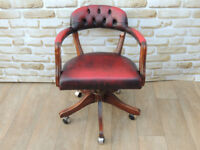 Captains Ox Blood Chair (Delivery)