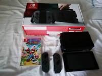 Nintendo Switch (32gb) Grey Console (Like New) w/ 64gb SD Card &, Mario & Rabbids