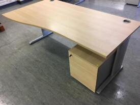 Office wave style desks excellent condition used office furniture