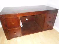 Solid wood TV stand / desk / bureau