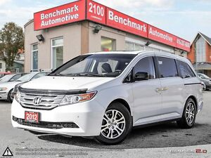 2012 Honda Odyssey EXL RES-LEATHER-ROOF-DVD-NEW TIRES+BRAKES-CDN