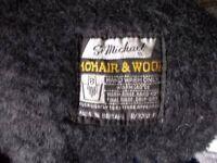 Vintage scarf black MOHAIR
