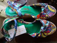 Women's High Wedges Heels Platform Espadrilles Sandals Shoes - Size 39 (UK 6)