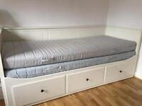 Ikea Hemnes Day Bed with Two Mattresses and three drawers