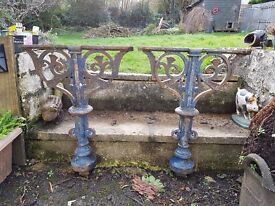 ORNAMENTAL CAST IRON SUPPORTS FROM CHURCH ABOUT 110 YEARS OLD