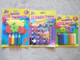 Artbox Modelling Clay, Sponge Painting & Poster Paint sets. BNWT.