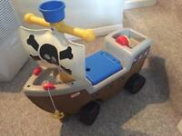 Little Tikes Ride-On Pirate Ship with realistic sounds