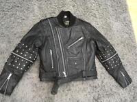 Real leather ladies motorbike jacket size 38