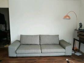 grey 4 seat contemporary sofa french connection