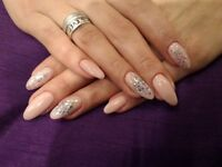 Gel polish manicure and pedicure