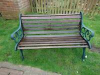Cast iron garden bench (delivery available)