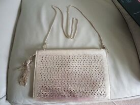 New - Without tags Monsoon evening bag. Really lovely soft gold colour with diamantes and chain