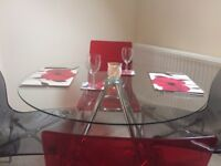 Lovely John Lewis Chairs and a Glass Table