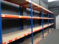 JOB LOT 100 bays rapid1 industrial long span shelving as new! ( pallet racking , storage)