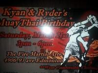 Kids birthday party at The Fire Martial Arts