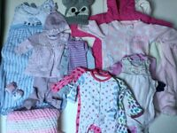 Baby Girl Clothes Bundle 0/6 Months £20 Ref. 0095