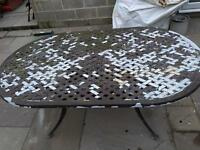 Cast aluminium garden table