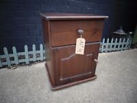 SOLID PINE BEDSIDE CABINETS ALL ODD ONES AND IN VERY GOOD CONDITION (2)