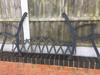 Cast Iron Garden Bench Ends With Cast Iron Back Rest- DELIVERY AVAILABLE