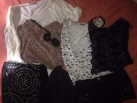 BOUNDLE of x16 LADIES CLOTH SIZE 8 - 10,hat and shoes