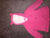 Beautiful cute baby girls pink jacket 9-12 months
