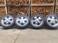 """20"""" Alloy wheels & tyres 5x130 chrome"""